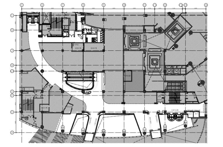 [福州]三层现代风格中心商场施工图(含效果图+SU模型)_1