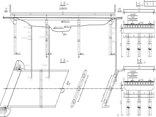 [湖南]跨河杓形桥拆除重建工程施工图纸及清单