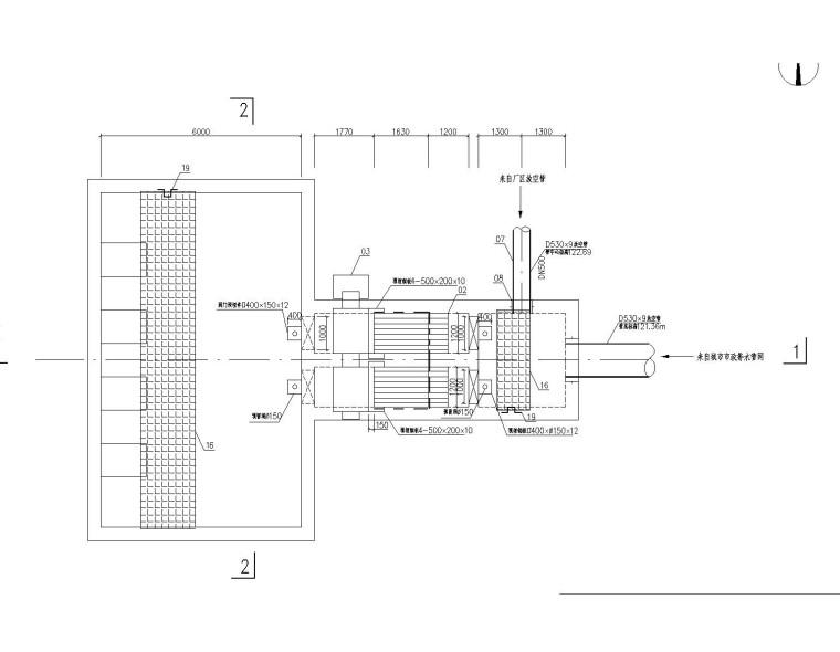 粗格栅和进水泵房施工图