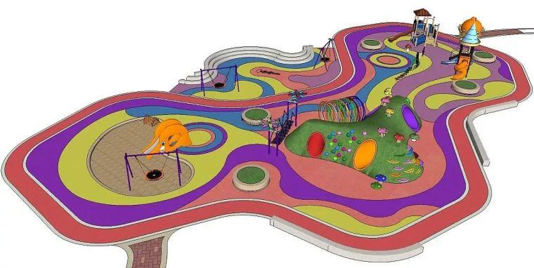 儿童主题景观专辑--海洋主题乐园+幼儿园+儿童游乐场--精细SU模型