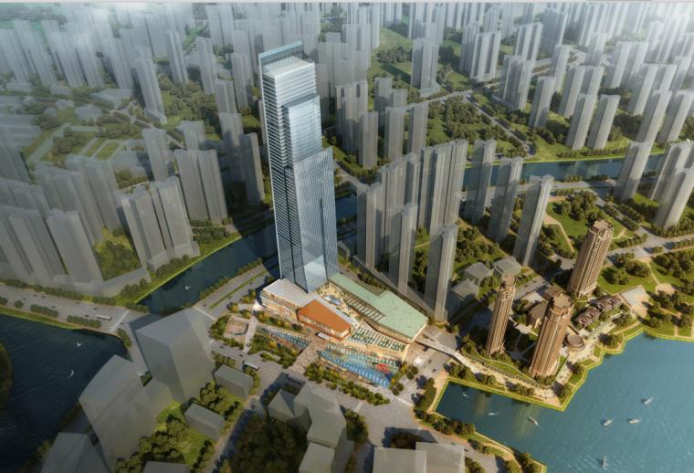 vivo总部方案设计资料下载-[湖南]国际总部中心二期商业综合体项目方案设计(含酒店、公寓)