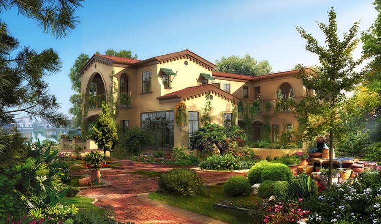 农村二层别墅盖房设计案例效果图