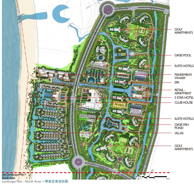 [海南]龙沐湾国际旅游度假村方案设计-南区平面图