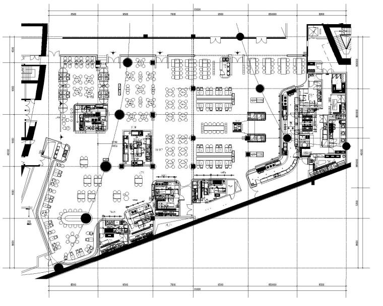 [GID]启皓北京华都食街CAD施工图+效果图+概念方案