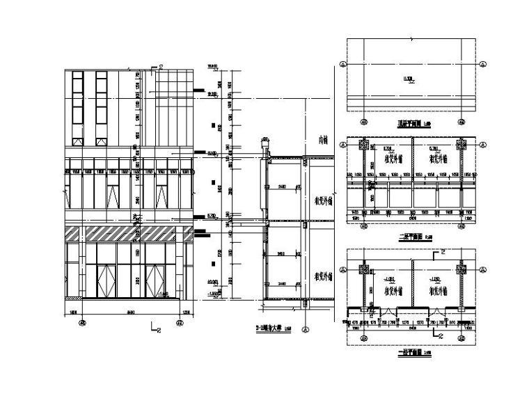 [福建]高层现代穿插式商业综合体建筑设计方案文本(含效果图)-高层现代穿插式体块商业综合体建筑详图
