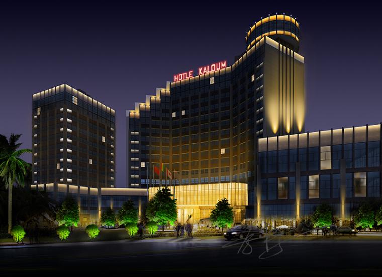 灯光让酒店更有魅力-酒店夜景照明效果设计
