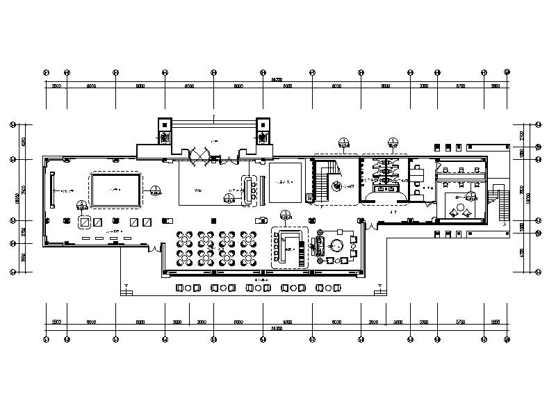 [青岛]南洋混搭风格售楼处室内设计施工图