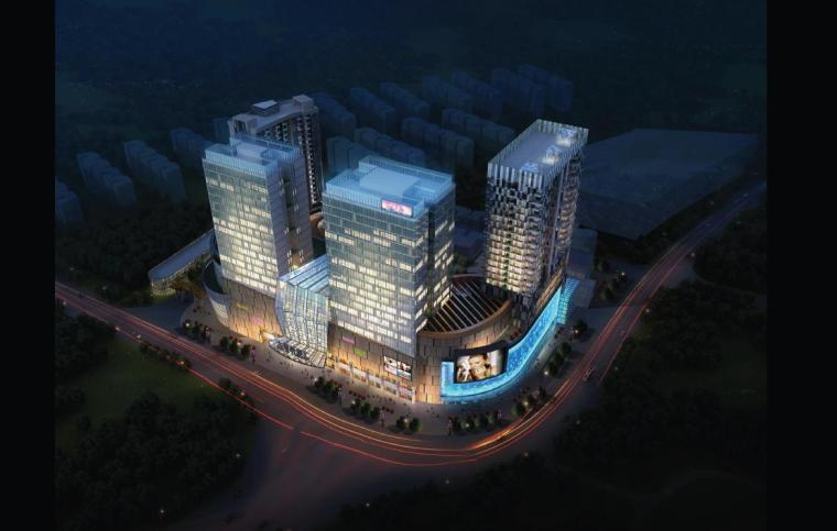 [广东]现代风格幕墙立面商业办公综合体建筑设计方案文本