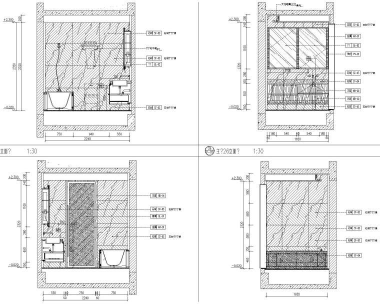 [北京]万科翡翠长安现代中式轻奢样板间设计方案+CAD全套施工图+物料书+效果图_13