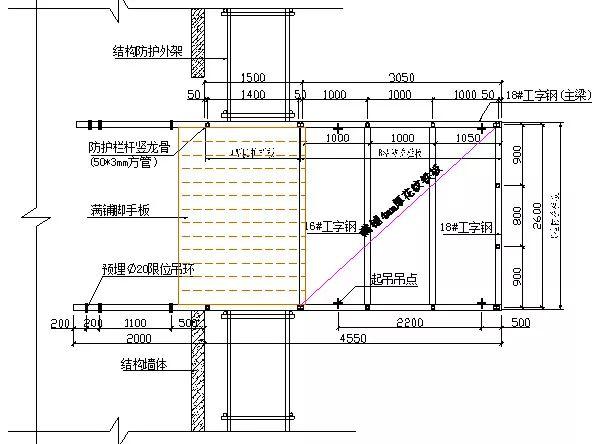 悬挑式卸料平台制作施工技术交底(附详细做法示意图)_1