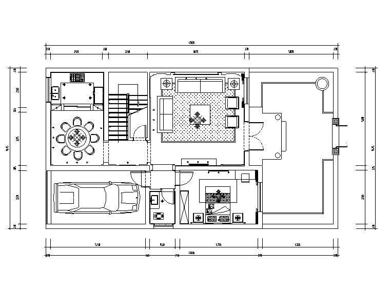 中式风格三层别墅设计施工图(附效果图)