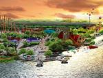 """[湖北]""""金钢乐园""""住宅公园旅游区景观设计方案"""