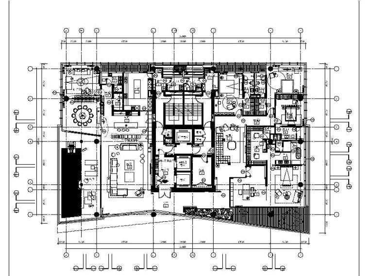 [深圳]详细完整的全套现代精致别墅设计施工图(含效果图)