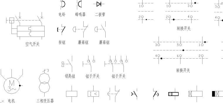 常用CAD电气制图图形