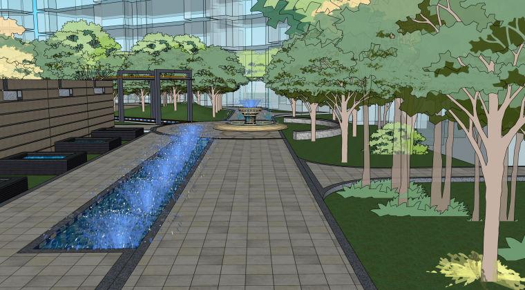 超精细!居住区建筑景观设计模型_3