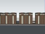 某小区规划入口商业建筑模型设计