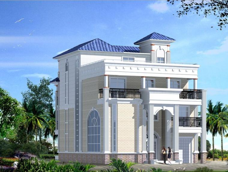 四层独栋别墅建筑设计总建筑面积523平米(包含CAD)