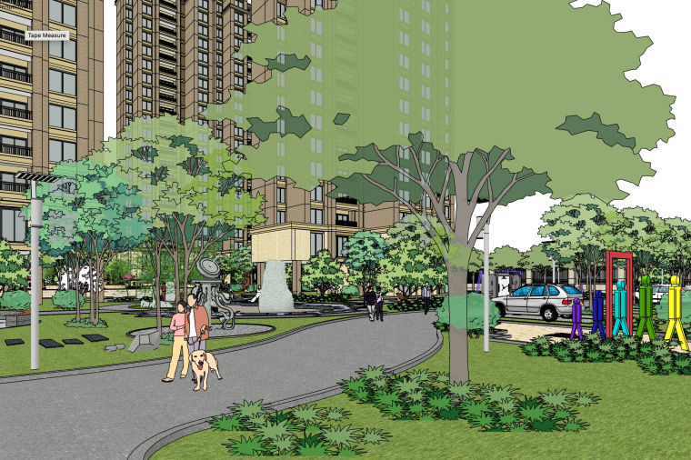 居住区建筑模型设计