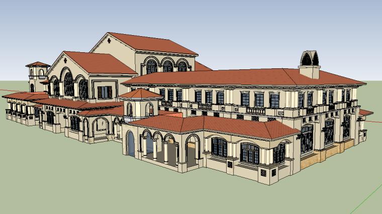 西班牙-海南亚泰温泉酒店(会所)模型设计-场景五