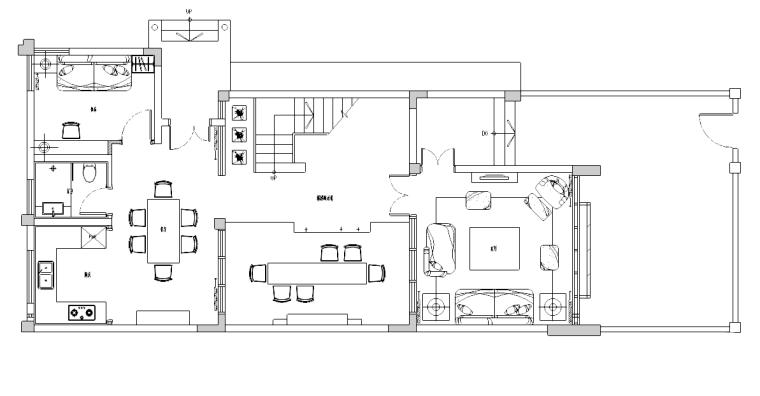 [四川]成都大都会风格住宅装修施工图