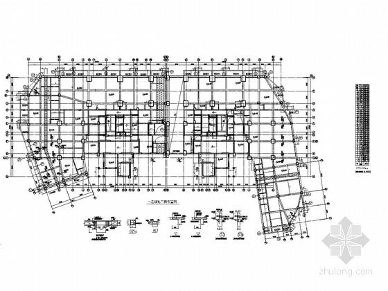 [四川]地上32层部分框支剪力墙结构地上部分商住楼结构施工图