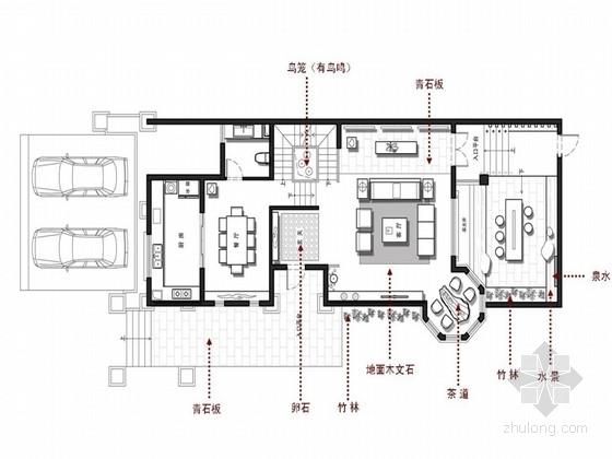 园林布置别墅cad资料下载-[江苏]中国园林之城现代东方风格三层别墅室内装修设计方案