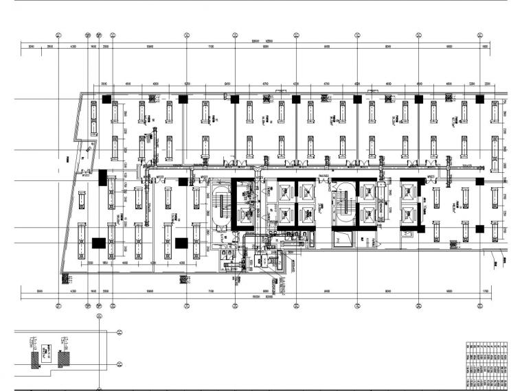 高层商业办公楼空调通风防排烟施工图设计(节能设计)