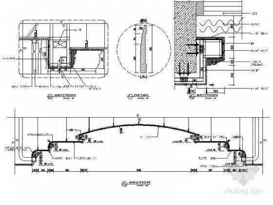 [苏州]奢华欧式风格商务会所三层健身娱乐区室内装修图(含效果) 大会议室节点