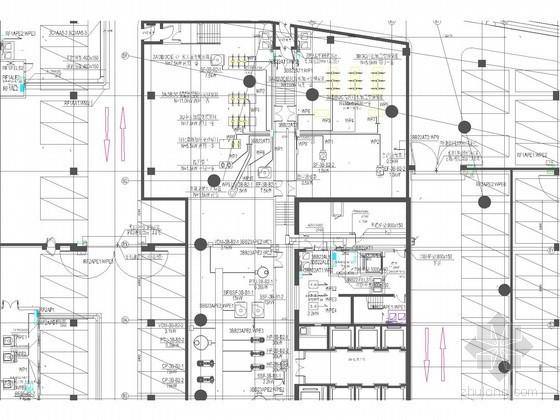 [北京]20万平商业综合体强弱电施工图纸570张(新火规 甲级设计院)
