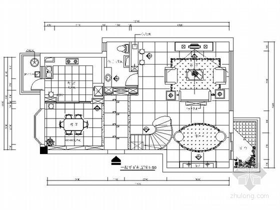 [原创]大气三层别墅施工图