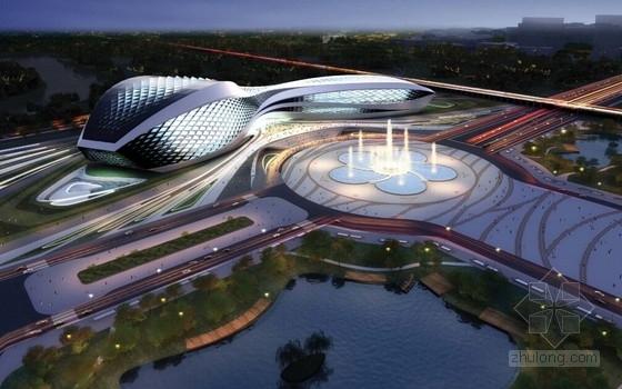 [成都]大型玻璃幕墙流线型文化中心建筑设计竞标文本(世界知名女建筑师 普利兹克获奖者)