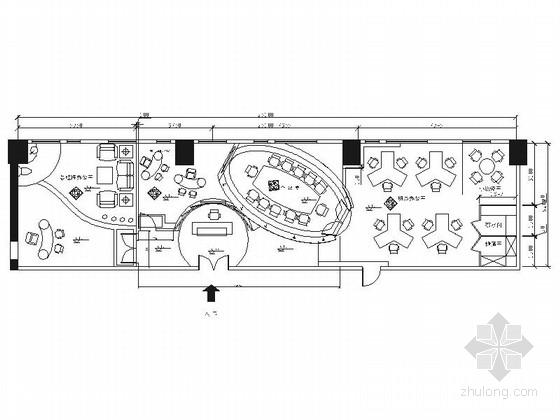 [北京]清新现代风格办公室装修施工图(含效果)