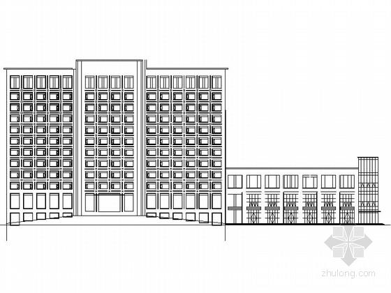 [四川]现代风格高层商务酒店建筑设计方案图