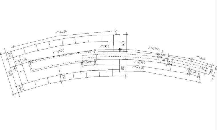 弧形景观墙详图设计(混凝土结构)
