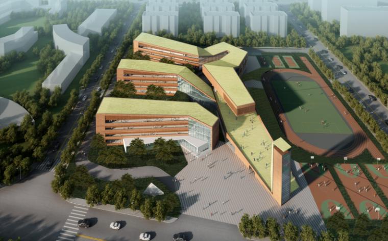 [上海]多层次台阶式小学建筑设计方案文本