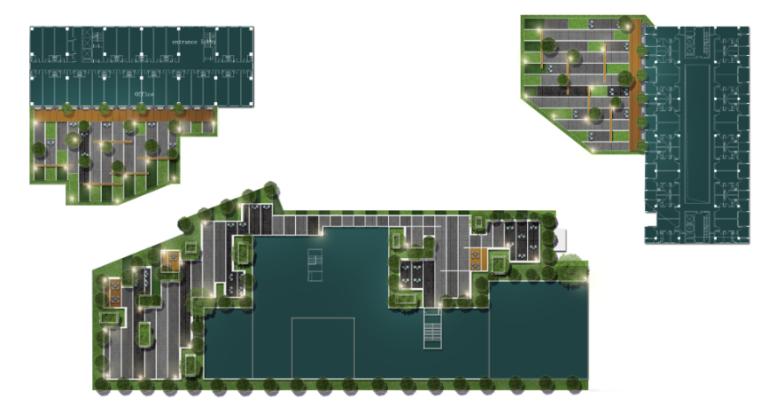 景观平面图 屋顶花园PSD彩色平面图素材(2)