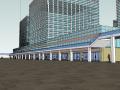 广州万达广场步行街商业商业综合体SU模型