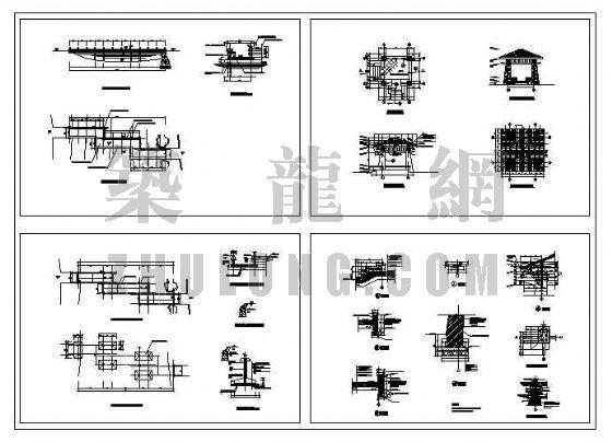 木桥与亭施工大样图-4