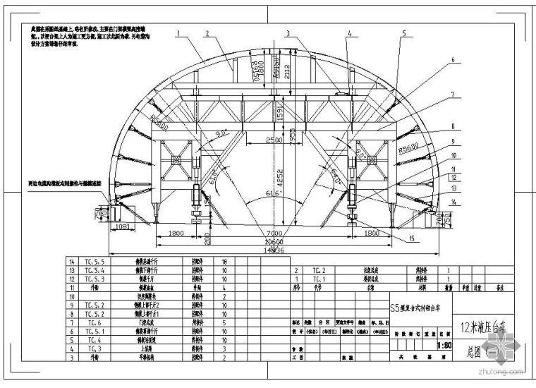 衬砌台车设计图