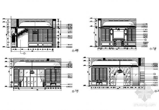 欧式古典客厅立面设计图