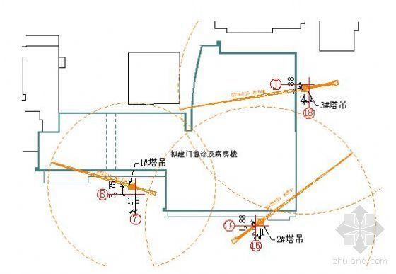 北京某医院病房楼施工现场总平面布置方案