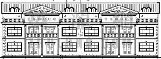 某联体别墅的平、立面设计方案