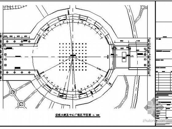 上海某政府大楼及广场园林景观设计施工图