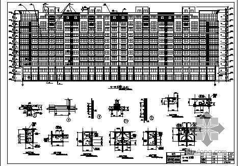 某地下车库综合楼、高层商住楼、银行商住楼建施、结施图纸