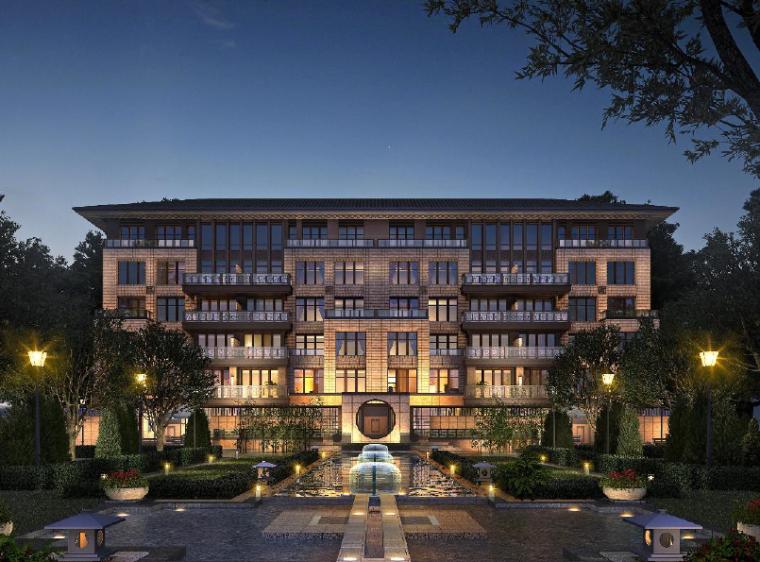 [江苏]新中式风格居住小区规划建筑设计方案文本