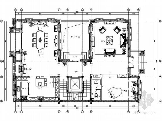 [江苏]法式浪漫风情别墅室内施工图(含效果图)
