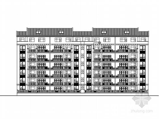 [湖南]7层复式洋房住宅建筑施工图