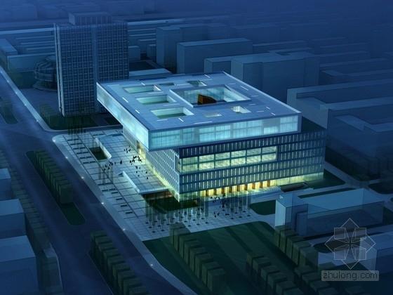 [天津]现代风格8层大学图书馆建筑设计方案文本