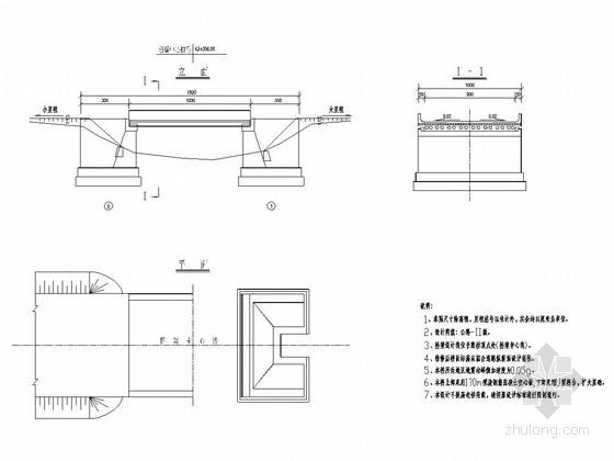 小跨度简支梁板桥加固维修更换桥面系设计套图(6张)