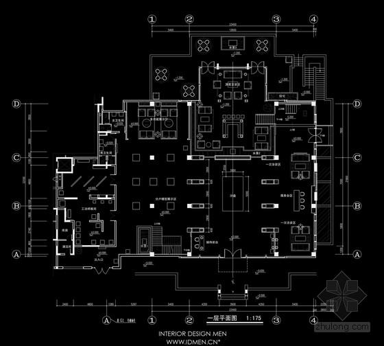 [陕西]典雅大气现代中式风格销售中心室内设计方案